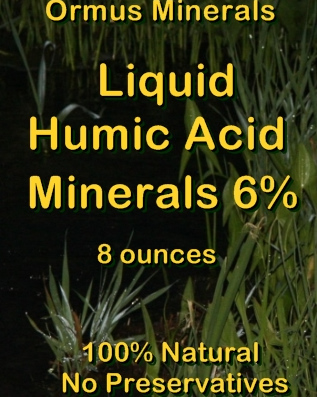 Ormus Minerals -Liquid Humic Acid Minerals for Plants