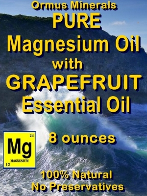 Ormus Minerals -Pure Magnesium Oil with GRAPEFRUIT EO