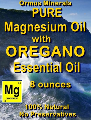 Ormus Minerals -Pure Magnesium Oil with OREGANO EO